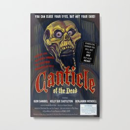 """""""Canticle of the Dead"""" Movie Poster Metal Print"""