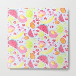 Water colour fruit salad Metal Print