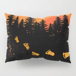 Bigfoot Tracks At Sunset Pillow Sham