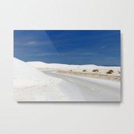 White Sand Reaches Up To The Horizon Metal Print