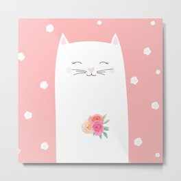 cat bride Metal Print