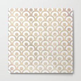 Japanese Paper Waves Metal Print