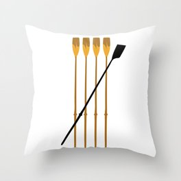 Rowing Oars 3 Throw Pillow