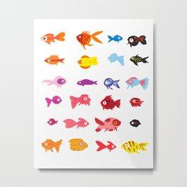 Fish collection Metal Print