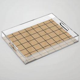 KRAFT GRID Acrylic Tray