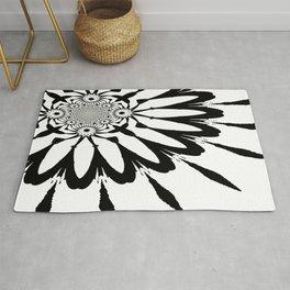 The Modern Flower White & Black Rug