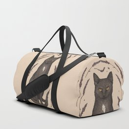 The Cat and Lavender Duffle Bag