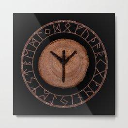 Algiz Elder Futhark Rune divinity, higher self, the state of listening, protective teaching force Metal Print
