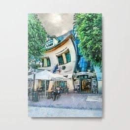 Sopot city watercolor art #sopot #watercolor Metal Print