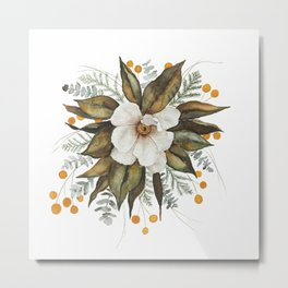 Magnolia Bouquet Metal Print