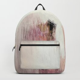 Sunrise [2]: a bright, colorful abstract piece in pink, gold, black,and white Backpack