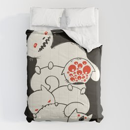 Strange Pile Of Monster Cats Drawing Comforters
