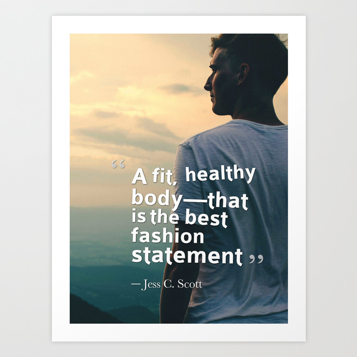 Motivating Ispirational Quotes Youth Healthy Body Art Print By Asarstudios Society6