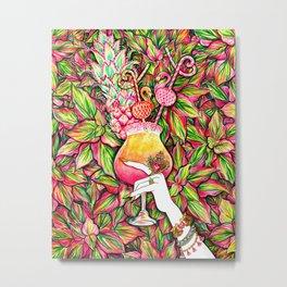 Summer Refreshment_Flamingo Metal Print