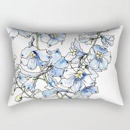 Blue Delphinium Flowers Rectangular Pillow