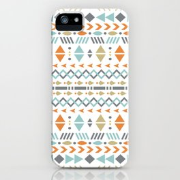 Southwestern Tribal Modern Geometric Stripes of Arrows Chevrons Diamonds Leaves Triangles Circles iPhone Case