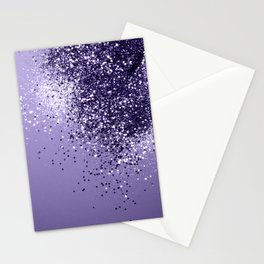 ULTRA VIOLET Glitter Dream #1 #shiny #decor #art #society6 Stationery Cards