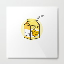 Japanese Banana Milk For Banana Milk Lover Metal Print