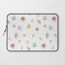 Watercolor Autumn Leaves Laptop Sleeve