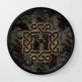 Decorative celtic knot, vintage design Wall Clock