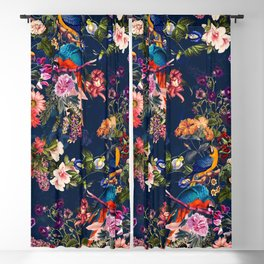 FLORAL AND BIRDS XII Blackout Curtain