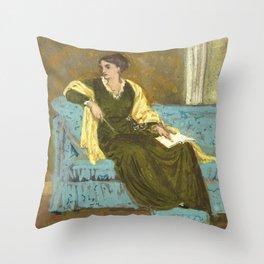 "Walter Crane ""Woman Seated on a Sofa"" Throw Pillow"