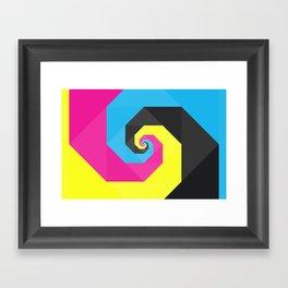 CMYK triangle spiral Framed Art Print