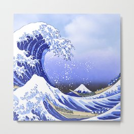 Surf's Up! The Great Wave Metal Print