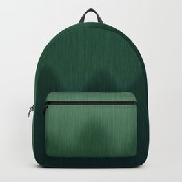 Forest Green Ombre Wave Abstract Backpack