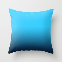 Simply fresh teal blue color gradient - Mix and Match with Simplicity of Life Throw Pillow