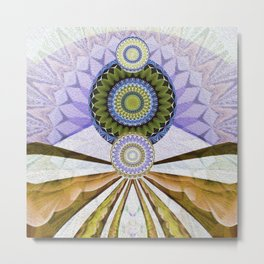 Majestic Earthscape Oil Painted Abstract Psychedelica Metal Print