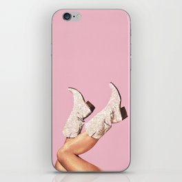 These Boots - Glitter Pink iPhone Skin