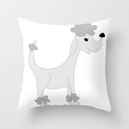 GREY POSH PAWS Throw Pillow