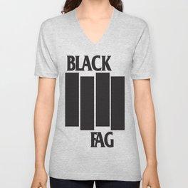 BLACK FAG Unisex V-Neck
