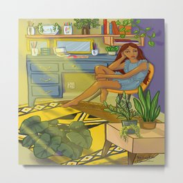 Relieving Stress Metal Print