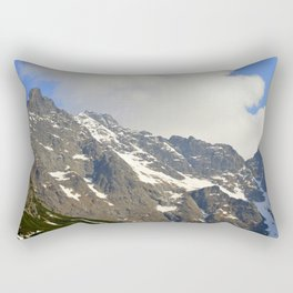 Blue Sky - Snowy Mountain Rectangular Pillow