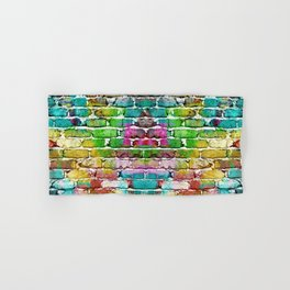 Colored bricks Hand & Bath Towel