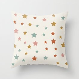 Star Pattern - Vintage Rainbow Throw Pillow