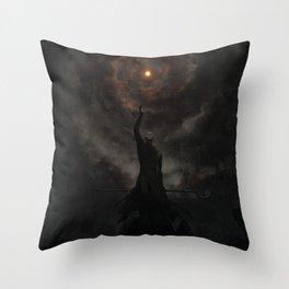 Infinite black skies Throw Pillow