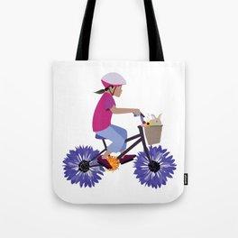 Summer Bike Ride Tote Bag