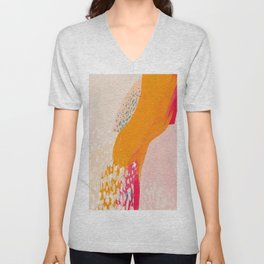 The Abstract Shape Of Spring Unisex V-Neck
