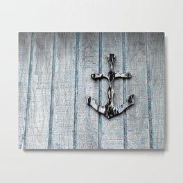 Anchored Metal Print