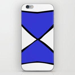 Blue Black X iPhone Skin