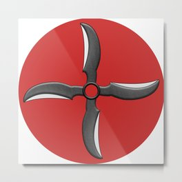 Demon Wind Shuriken Metal Print