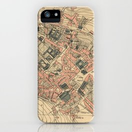 Vintage Map of Lugo Spain (1915) iPhone Case