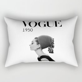 A digitally repainted  1950 Hepburn's Magazine cover Rectangular Pillow