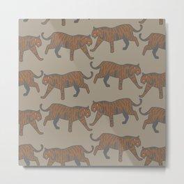 wild tigers pattern 1 Metal Print