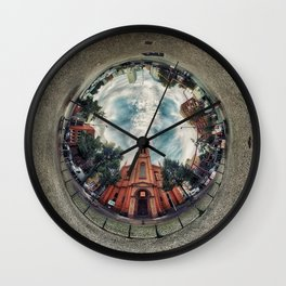 'Apostelkirche 360º Panorama' Wall Clock