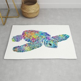 colorful Sea Turtle Rug