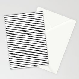painted stripes Stationery Cards